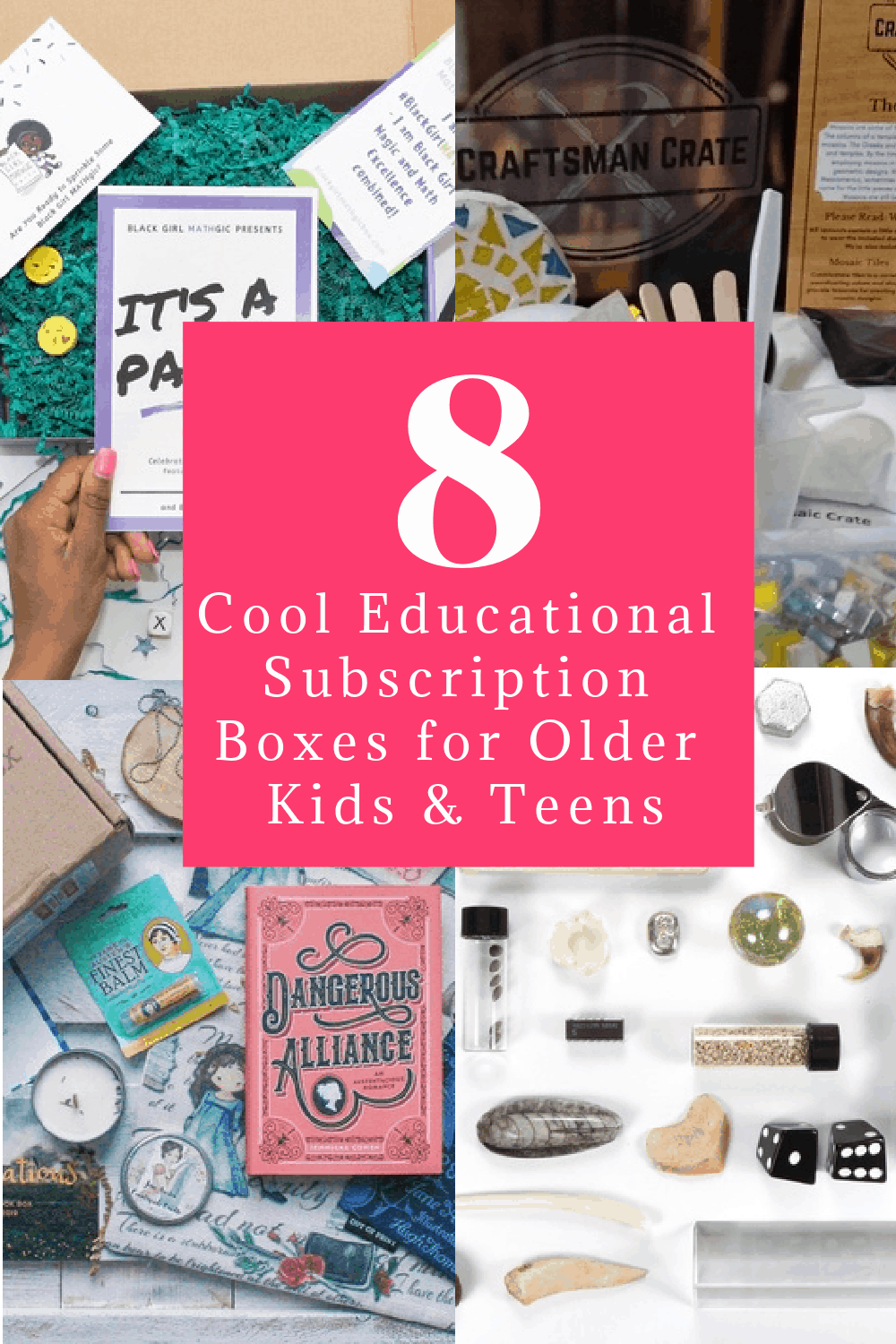 Looking for some amazing educational subscription boxes for older kids (including teenagers)? Here are 8  that make fantastic supplements to middle school and high school lessons. Check them out!