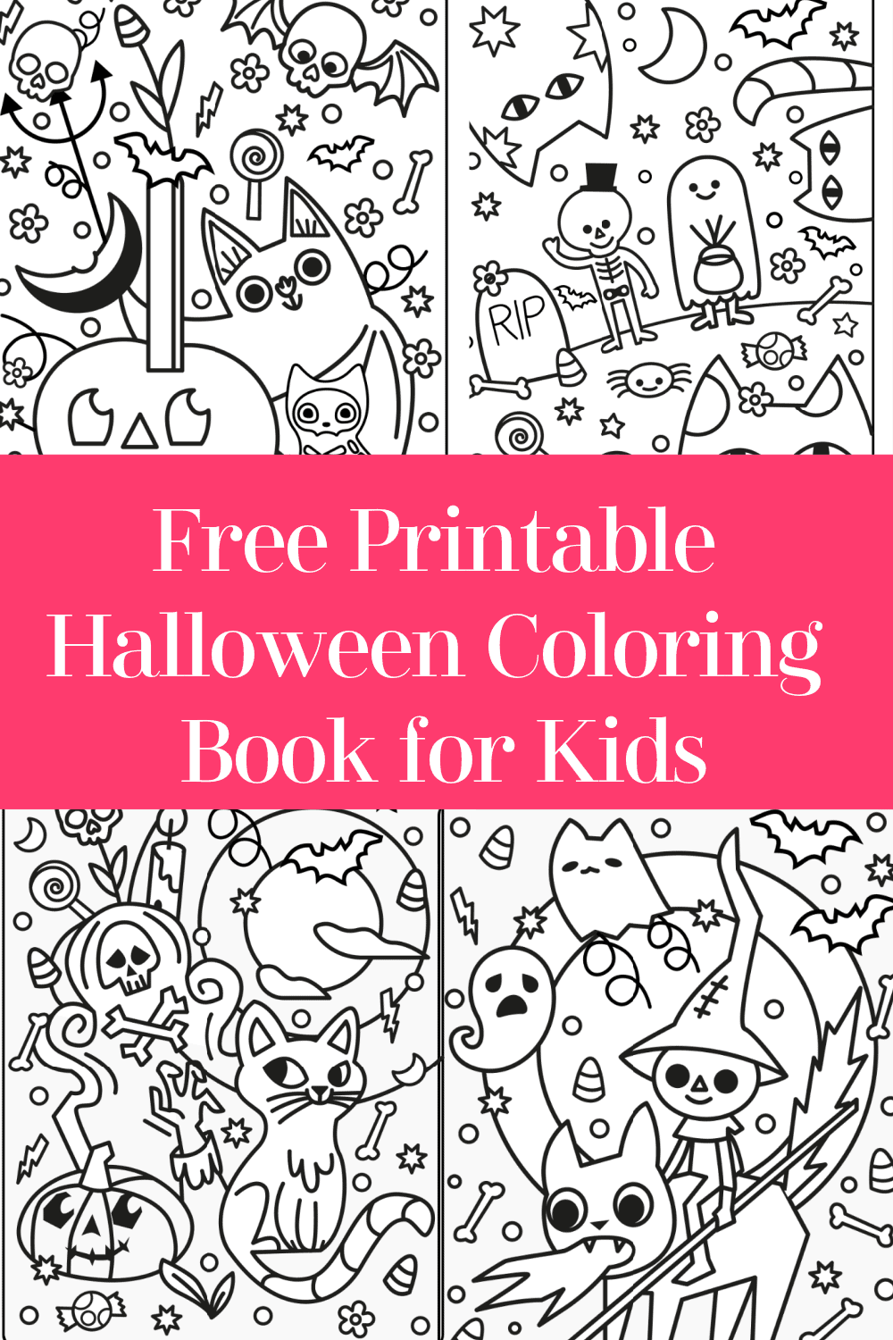 Need an easy way to keep the kids occupied? I made this fun little Halloween coloring book for kids! It's totally free, no strings attached. Just click the photo (or here) to download it.