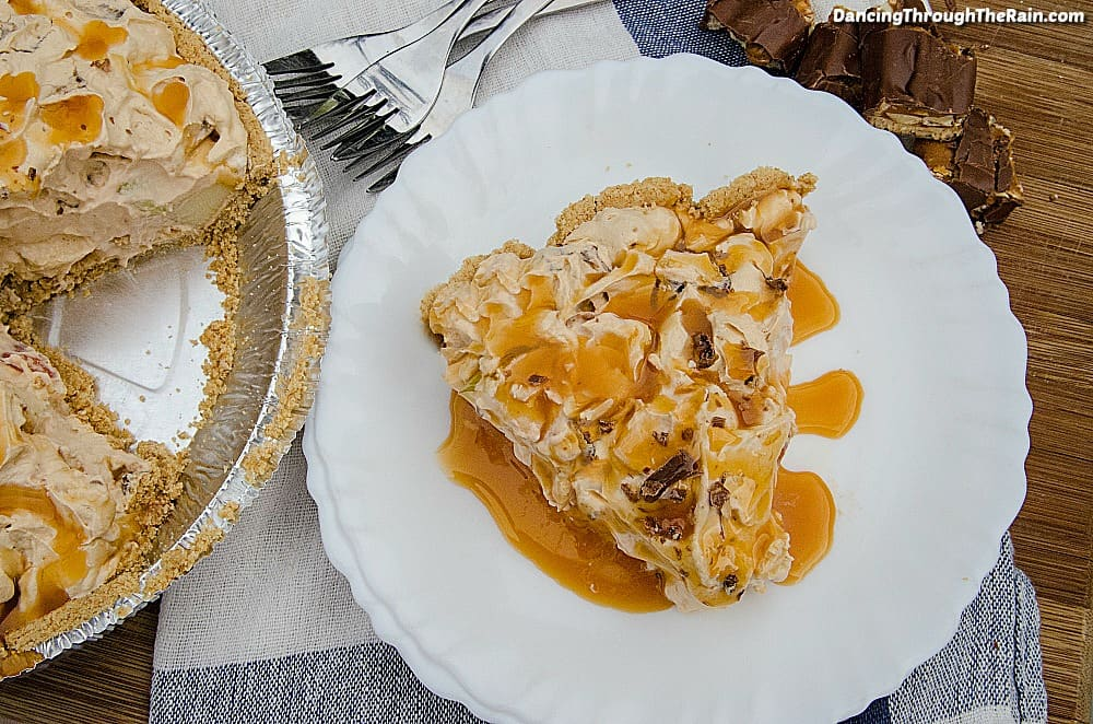 Butterscotch Pudding Snickers Pie71 25 Amazing Pie Recipes for Thanksgiving, Christmas & Beyond
