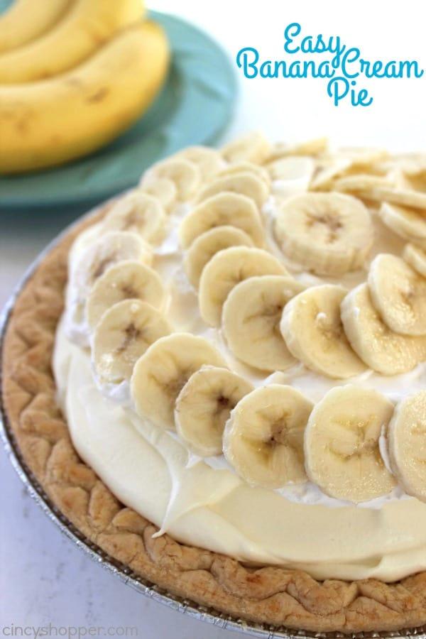 Easy Banana Cream Pie 2 25 Amazing Pie Recipes for Thanksgiving, Christmas & Beyond