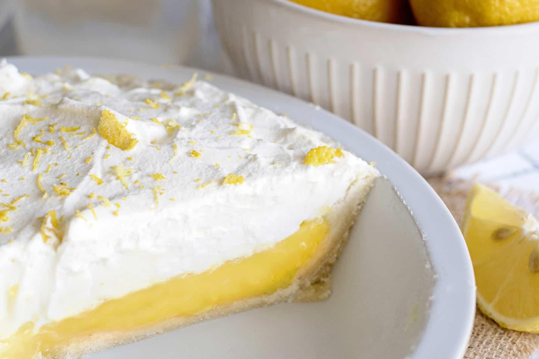 Sugar Cookie Lemon Pie