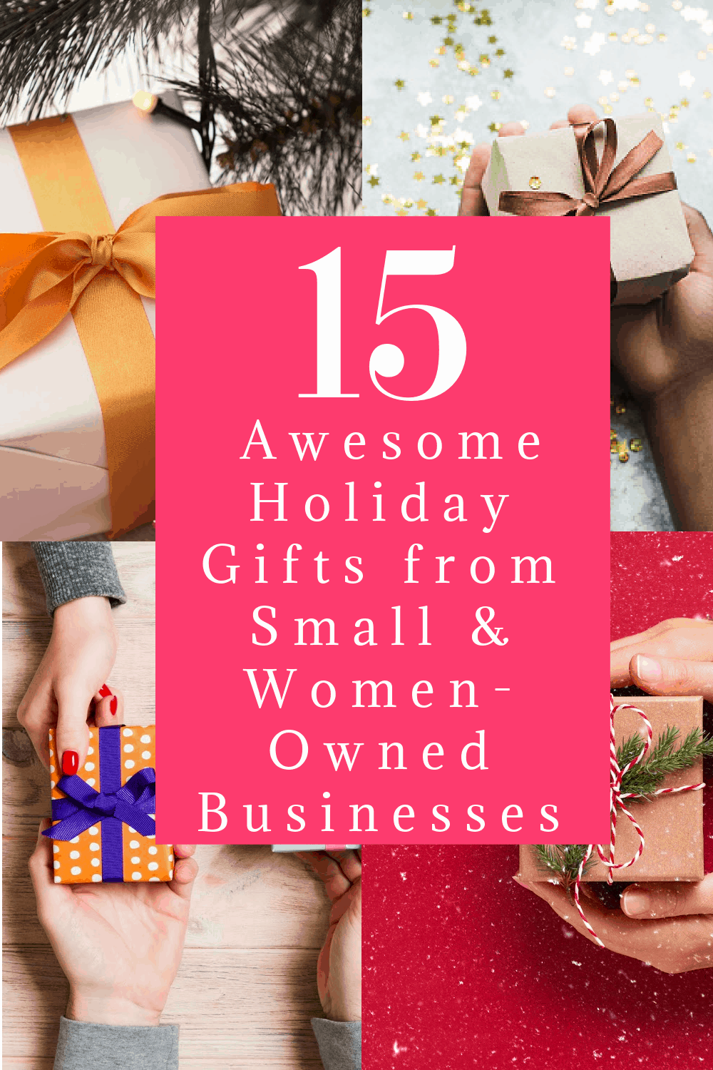 When you shop from these amazing small and women-owned businesses, you're not only giving your own family a gift they'll love; you're also helping other families put food on their table (and presents under the tree). Check them out!