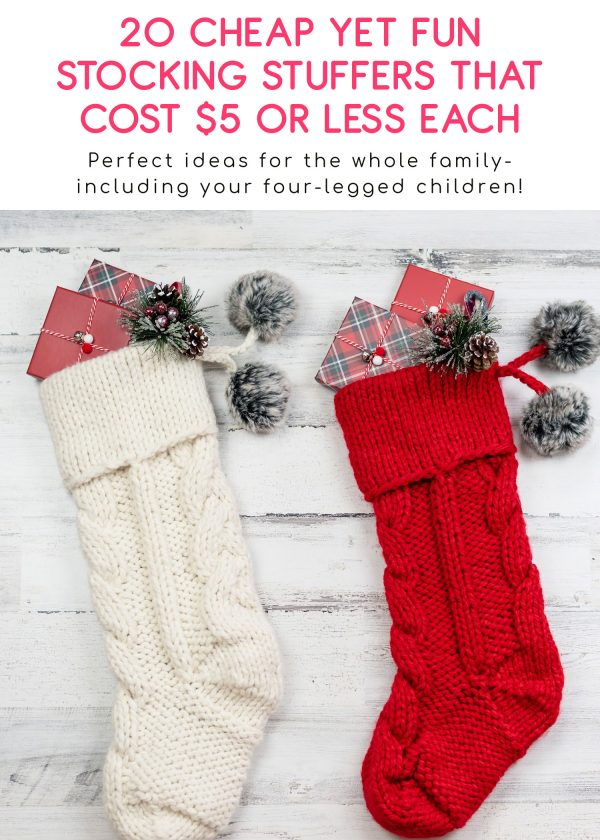 Finding cheap stocking stuffers is way harder than it should be, but I've got you covered. These ideas for the whole family (pets, too!) cost $5 or less!