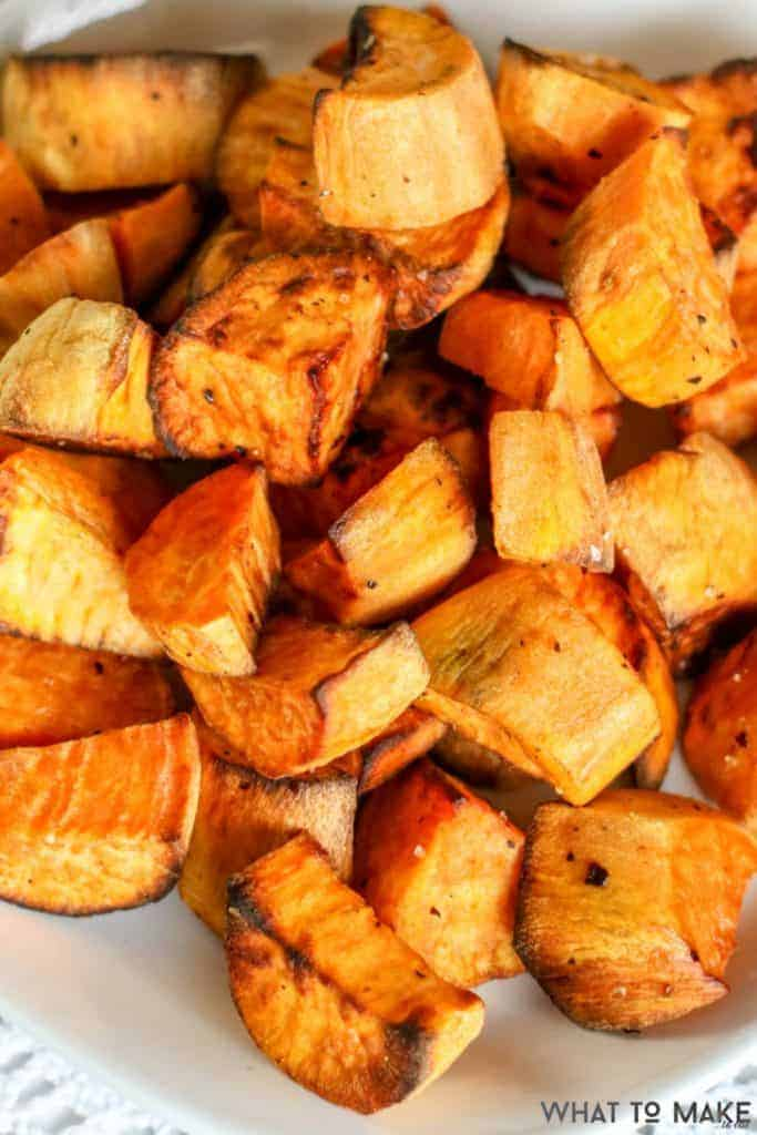 Air Fryer Roasted Sweet Potatoes 12 683x1024 1 30 Yummy Air Fryer Snack Recipes to Whip Up Tonight