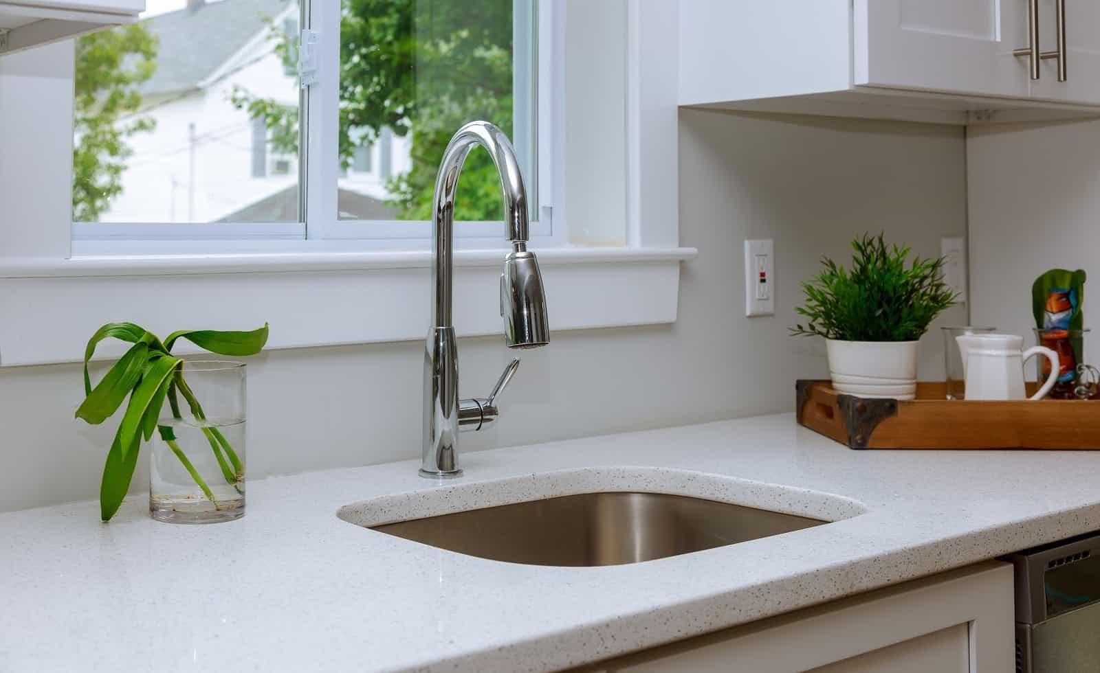 clean modern kitchen sink