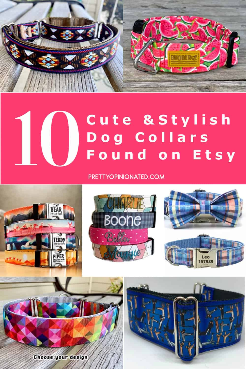 Your pup deserves the best of the best, so here are 10 diverse, stylish (and HUMANE) handmade dog collars on Etsy that you'll absolutely love! Check them out!
