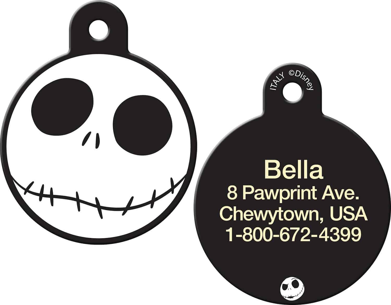 Disney Skellington Circle Personalized Dog & Cat ID Tag