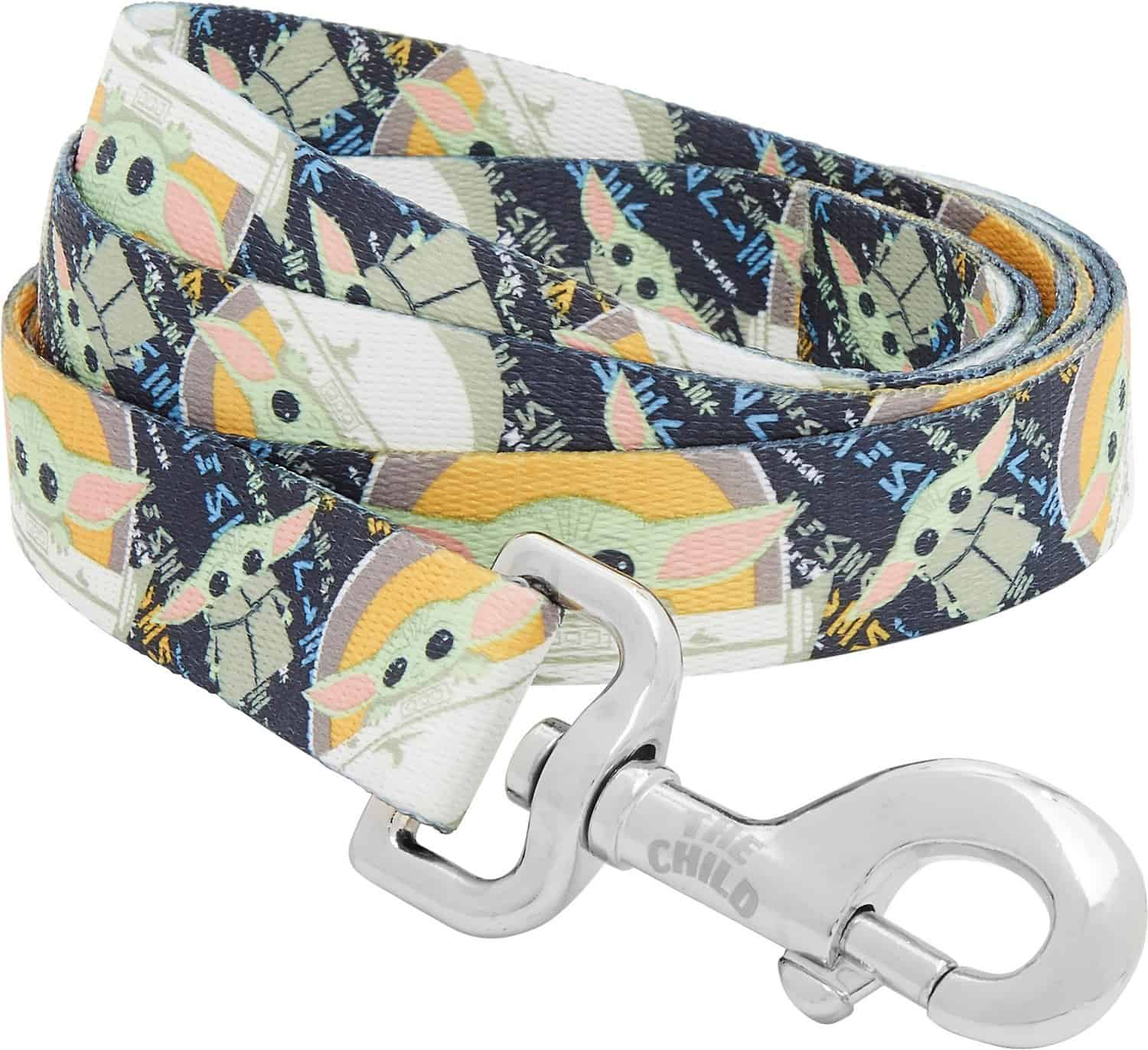STAR WARS THE MANDALORIAN'S THE CHILD Dog Leash, part of the chewy disney dog collection