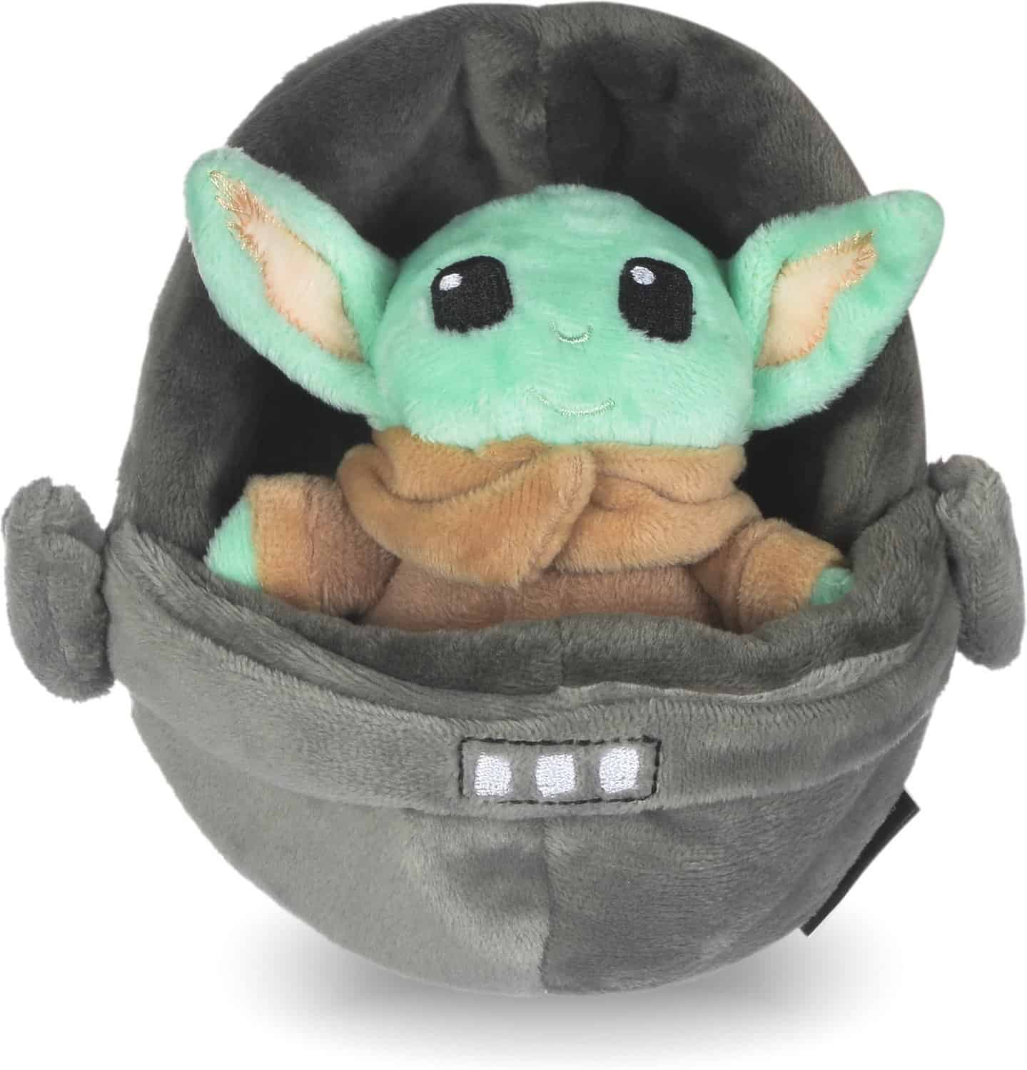"""Fetch For Pets Star Wars: Mandalorian """"The Child In Cradle"""" Squeaky Plush Dog Toy"""